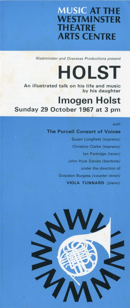 3. Programme for the first performance of The Harper