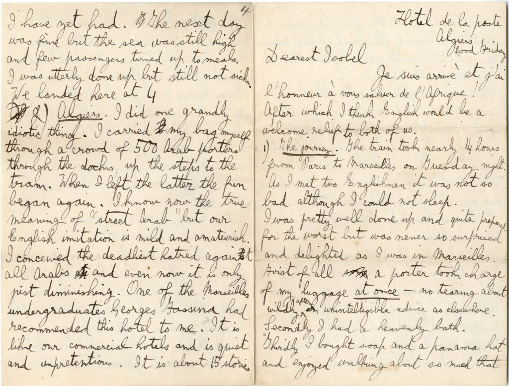 Gustav Holst letter to Isobel 1