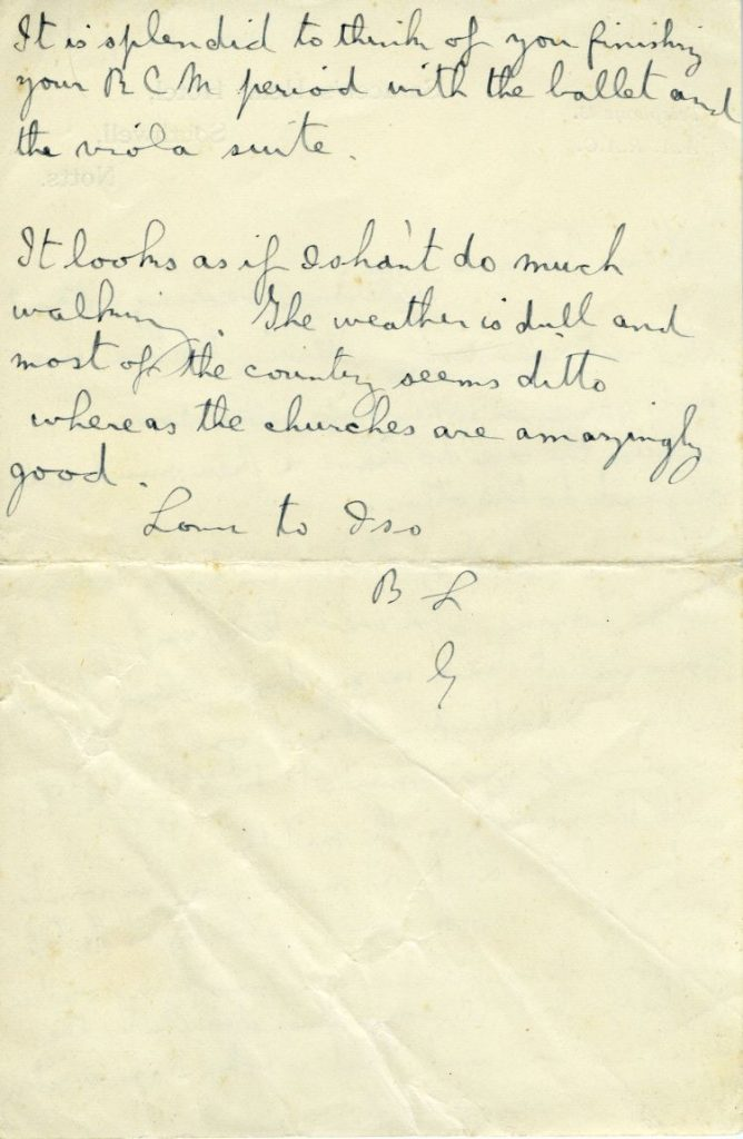 4. Letter from Gustav to Imogen, 30 Jul 1930