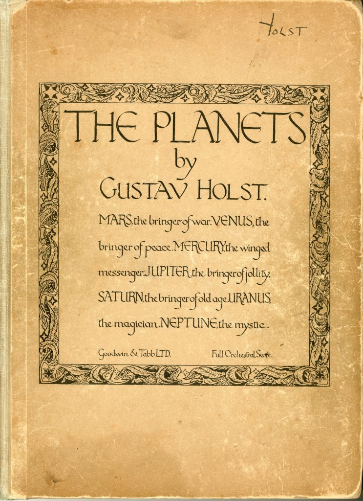 1. Gustav Holst's conducting score of The Planets